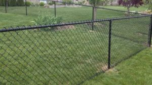 Black Chain Link Fence Installed in West Allis, WI