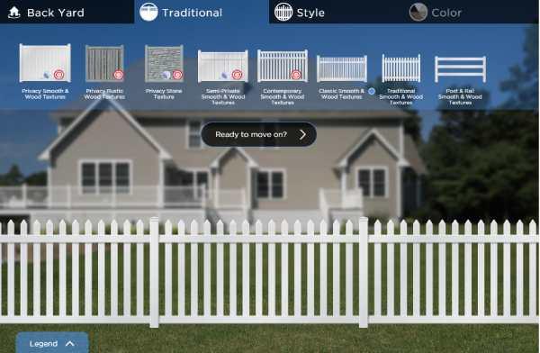 Online Vinyl Fence Design tool for Waukesha Residents