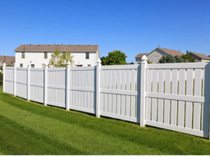 6 Foot White Vinyl Fence Installed in Delafield WI