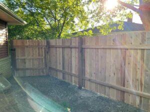 Pewaukee Cedar Fence Install 2021