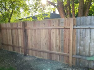 Waukesha WI Wood Privacy Fence Repair and Install