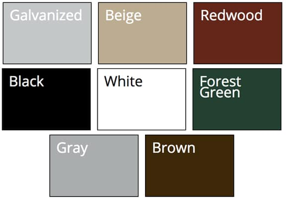 Coated Chain Link Fence Color Options