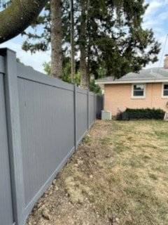 Grey Vinyl Fence