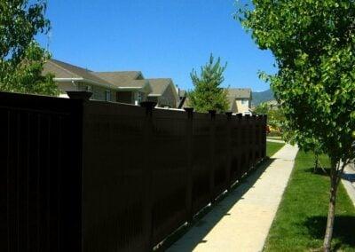 Modern Black Fence