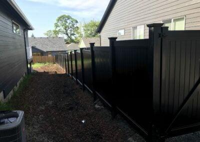 Madison WI Black Vinyl Fence Installation